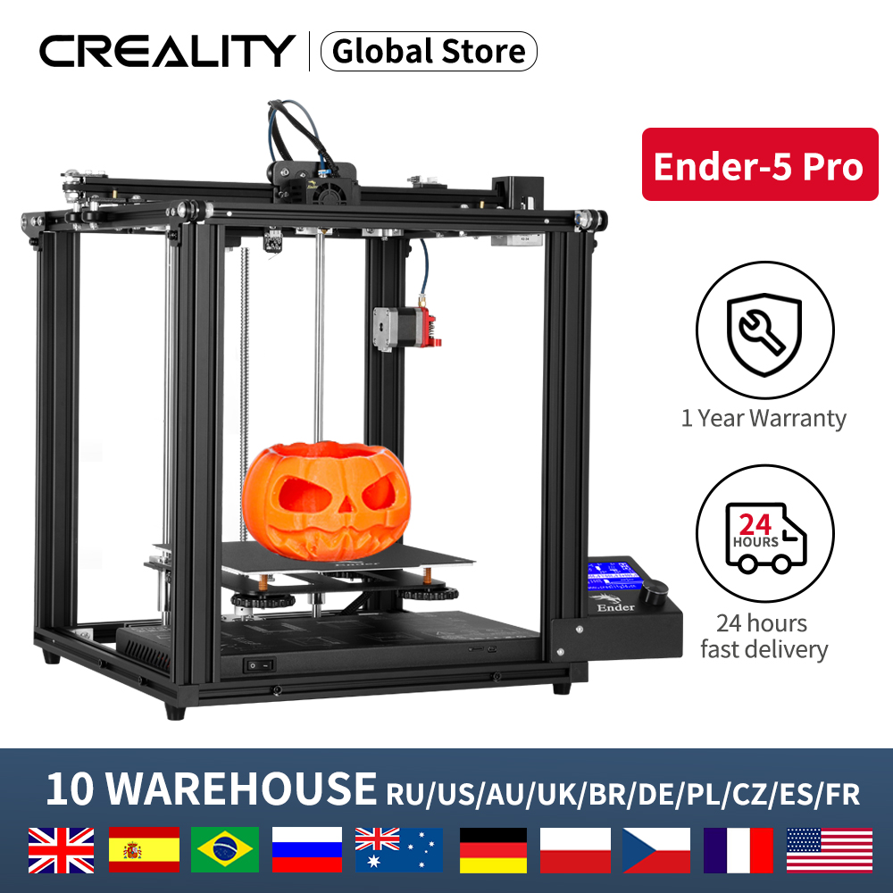 CREALITY 3D New Ender-5 Pro Printer With Silent Board Magnetic Build Plate Power off Resume Printing Enclosed Structure