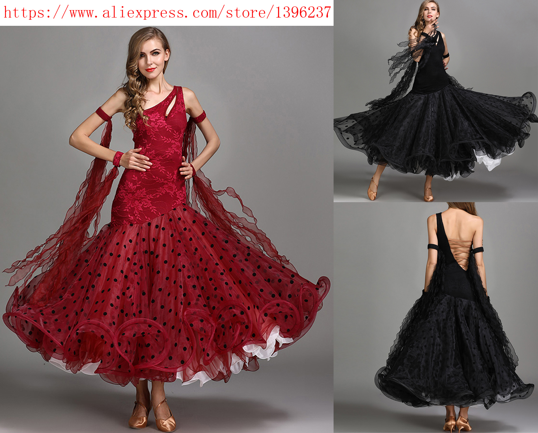Standard Ballroom Dance Dresses Women High Quality Elegant One Shoulder Waltz Dancing Skirt Ballroom Competition Dance Dress