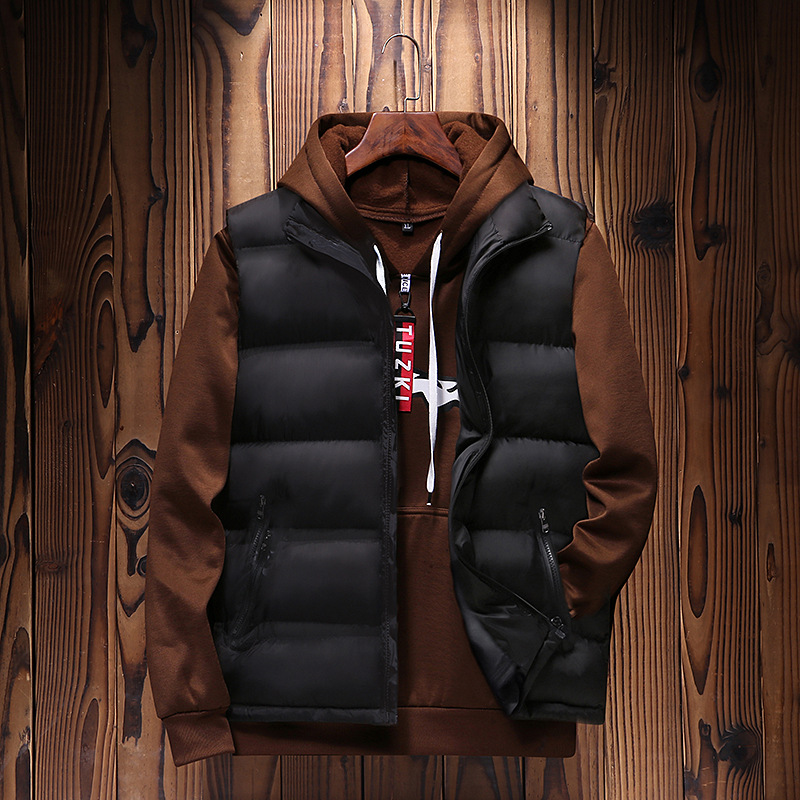 Manufacturers Direct Selling Autumn & Winter Korean-style Men Waistcoat Thick Warm Cotton-padded Clothes Vest Sleeveless Vest Ca