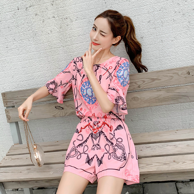 WOMEN'S Suit 2019 New Style Summer Elegant Very Fairy Two-Piece Western Style By Age Shorts Chiffon Loose Pants-