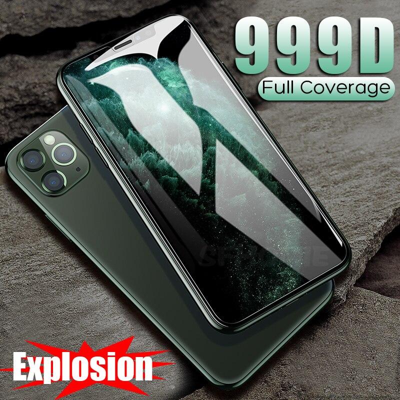 82.32руб. 35% СКИДКА|999D закаленное защитное стекло для iPhone 11 Pro Max 7 X XR Защита экрана для iPhone 7 8 6 6s Plus XS Max 11 Pro стекло|Защитные стекла для экрана телефонов| |  - AliExpress