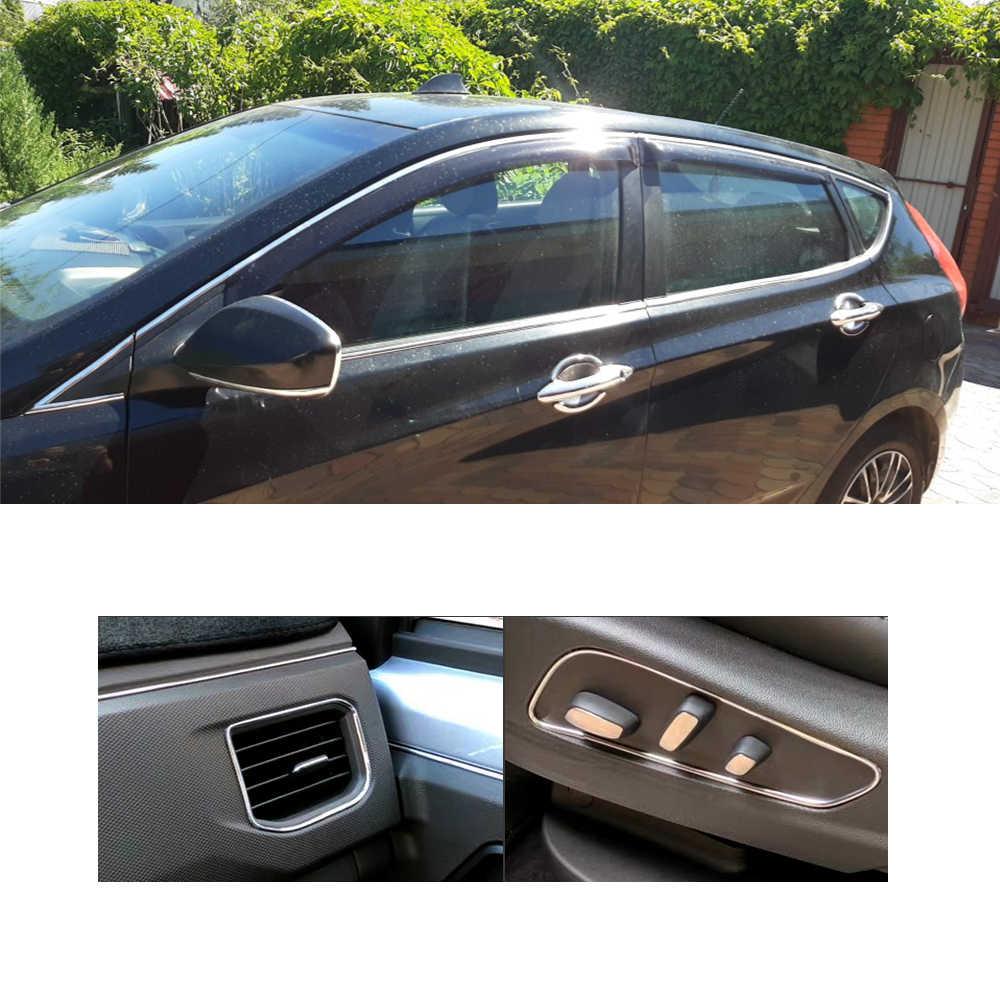 Mobil Styling Auto Self Adhesive Side Door Chrome Strip Cetak Dekorasi Bumper Protector Trim Pita