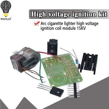 15KV High Frequency DC High Voltage Arc Ignition Generator Inverter Boost Step Up 18650 DIY Kit U Core Transformer Suite 3.7V hv 1 high voltage generator arc ignition diy kit arc generator arc cigarette igniter kit diy high voltage module dc 3 5v lighter