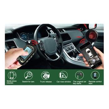 2 Weg Auto Alarmsysteem Pke Remote Start Lcd Keyless Entry Auto Accessoires Met 2 Afstandsbediening Centrale Vergrendeling