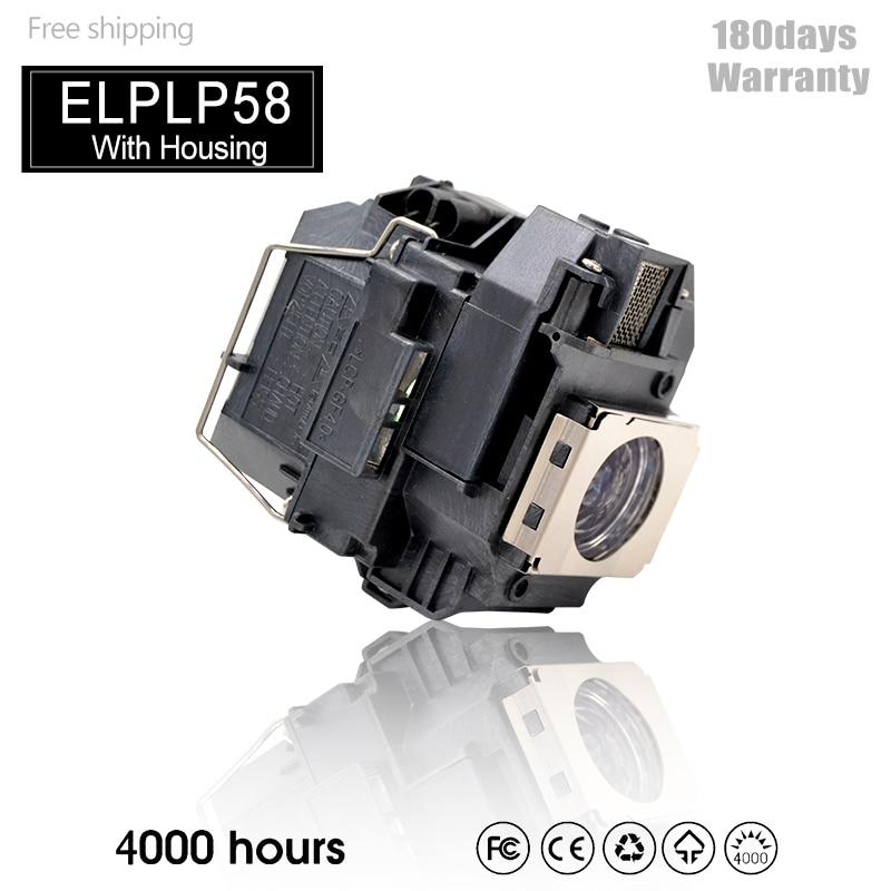 Лампа для проектора ELPLP58 для H369A H368A H367A H367B H367C EX7200 EX5200 EX3200 EB-X92 X9 X10 EB-W9 EB-X10 S92 EBS9 S10