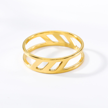 Vintage Geometric Unisex Custom Adjustable Stainless Steel Rings Sliver For Lovers Trendy Fashion Party Decoration Jewelry