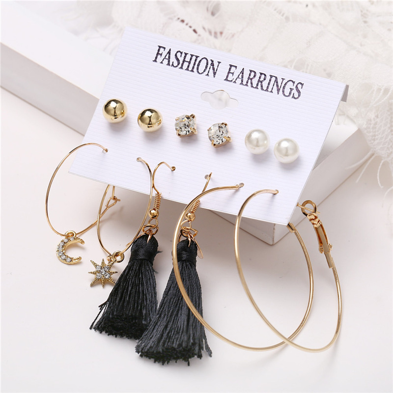 H8314839913c940ee96d56fb3eb55b850f - IF ME Fashion Vintage Gold Pearl Round Circle Drop Earrings Set For Women Girl Large Acrylic Tortoise shell Dangle Ear Jewelry
