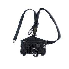PUPIL TRAVEL PT-B08 Techwear Unisex Portable Function Kit Water Resistant Sling Bag Hip Hop Style Punk Fashion