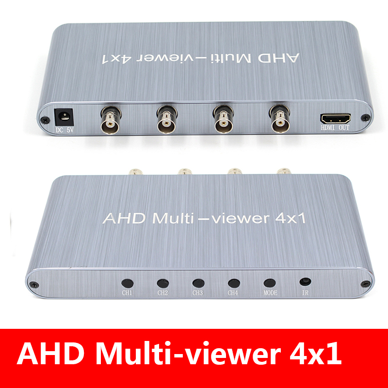 Direct 4-in-1 Video Signal, Seamless AHD((cvbs,ahd,cvi,tvi) Switcher Full HD 1080P With Remote&12V Power Supply For Camera CCTV
