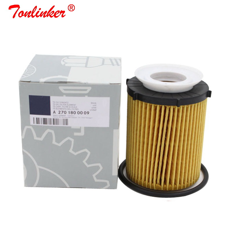 Oil Filter A2701800009 1Pcs For Mercedes B Class W246,W242 2011 2019 B160 B180 B200 B220 B250 Model High Quailty Oil Filter+Box-in Oil Filters from Automobiles & Motorcycles