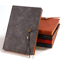 Retro A5 Notebook PU Strap Loose-leaf Notepad Magnetic Buckle Business Bullet Journal School Office Writing Stationery Wholesale