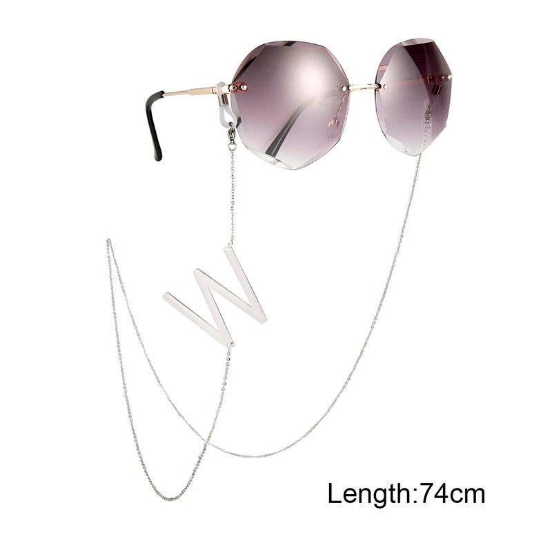 Lemegeton Custom Letter Glasses Chain For Women Eyeglass Cord Holder Sunglasses Lanyard Personalized Initial Neck Strap Rope