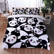 3D Printing Comfort Panda Bedding Set Duvet Cover Pillowcase Home Textile Bedroom Full Size Kids Teen Bed Linens Queen 3Pcs