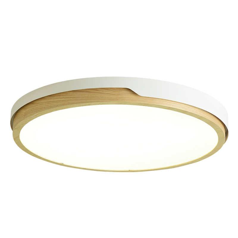 BOTIMI 220 В светодиодный белый круглый потолочный светильник в скандинавском стиле, настенный светильник для спальни, гостиной, деревянной кухни, осветительный прибор