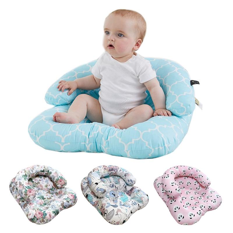 2pcs Set Baby Cushion Seat + U Shape Pillow Newborn Anti-spitting Milk Bed Baby Sofa Maternity Breastfeeding Nursing Pillow