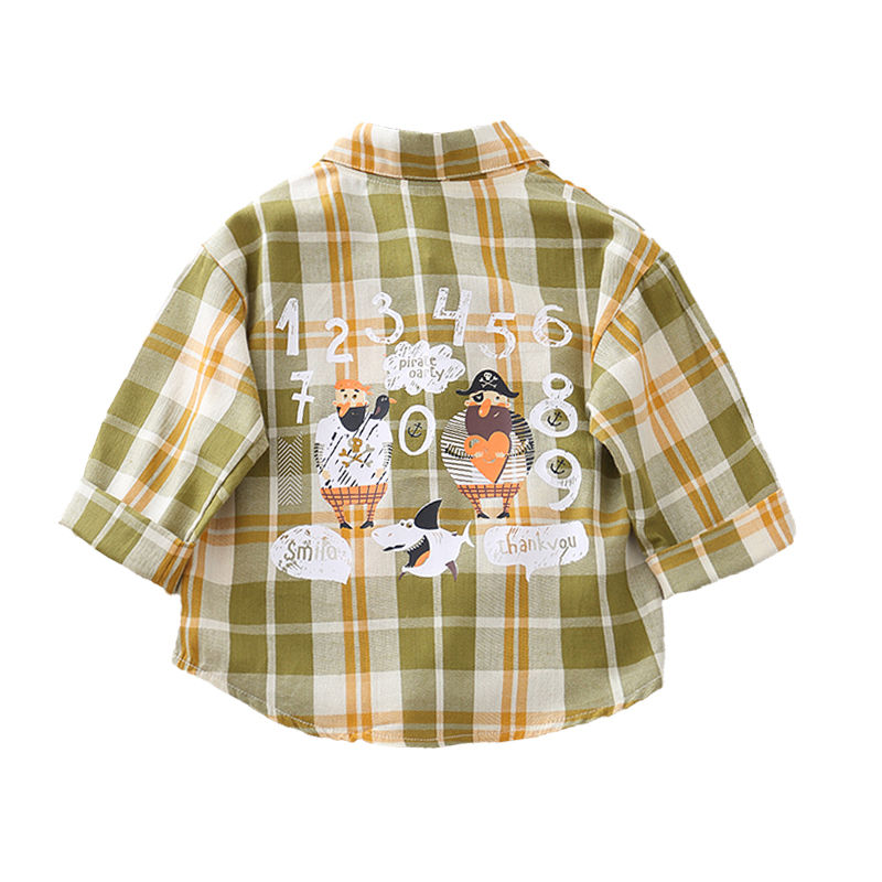 Spring Autumn Baby Outwear shirt Boys Coat Children Girls Clothes Kids plaid Infant Sweatershirt Toddler Fashion shirts SUIT