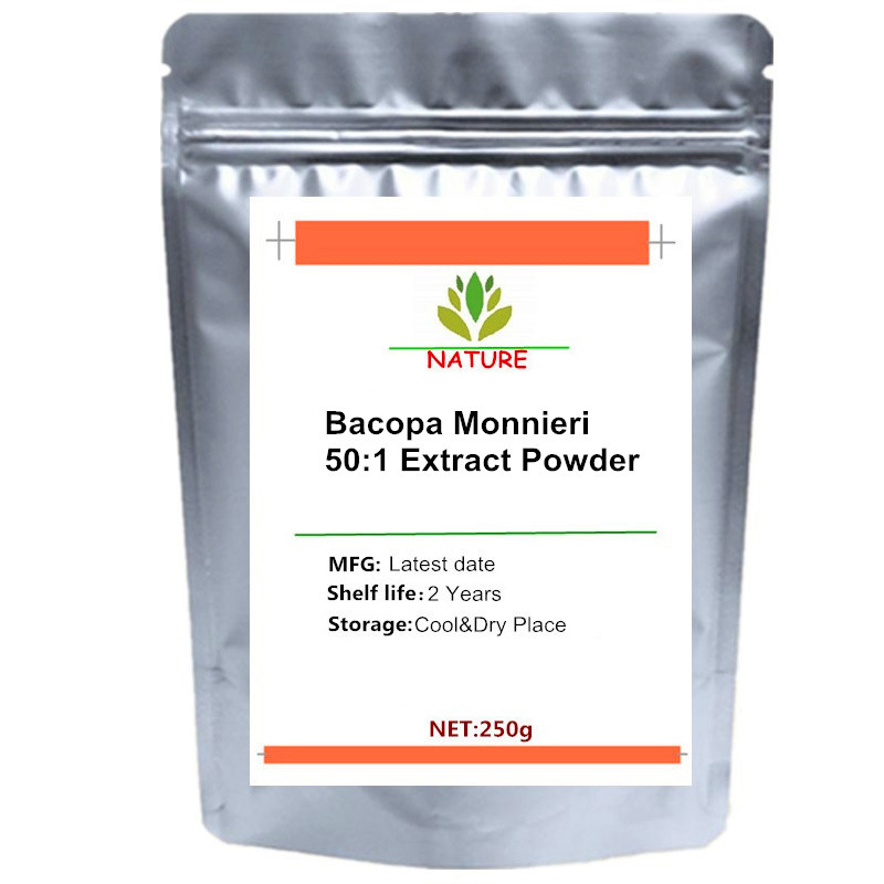 Bacopa Monnieri 50:1 Standardized Extract Powder 50% Bacosides For Memory Boost