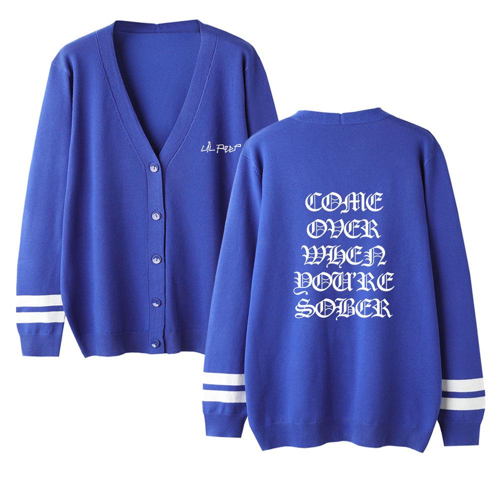 Unisex Sweater Lil Peep Sweater High Quality Lovers Cardigan Sweater Autumn V-Neck Long Sleeve Crochet Knit Warm Sweater