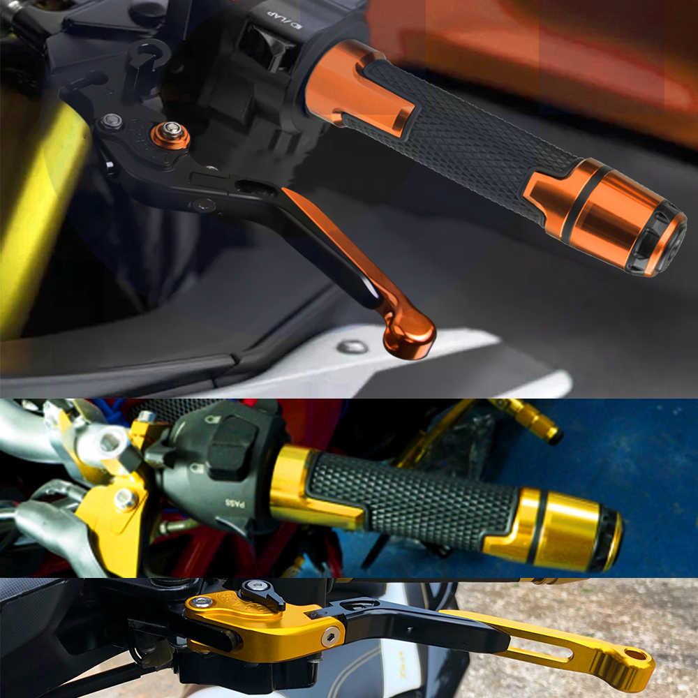 TMAX560 โลโก้รถจักรยานยนต์สกูตเตอร์ปรับคลัทช์เบรคคัน + 22MM Grips HandlebarสำหรับYAMAHA TMAX T MAX 560 2019 2020