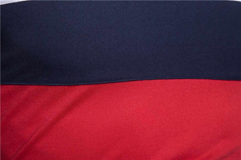 2020 뉴 여름 코튼 폴로 셔츠 남성 캐주얼 패치 워크 브랜드 남성 폴로 사회 사업 폴로 반팔 남성 탑스 티셔츠