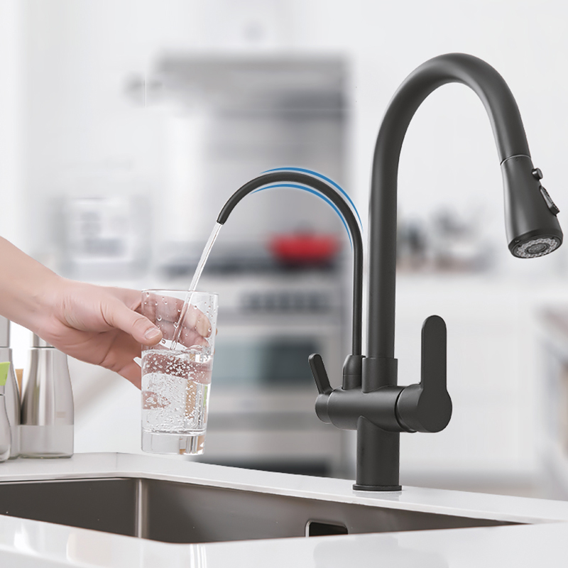 Filter-Kitchen-Faucets-Deck-Mounted-Rotatable-Cold-and-Hot-Water-Dual-Faucet-Mixer-Tap-Filtered-Tap