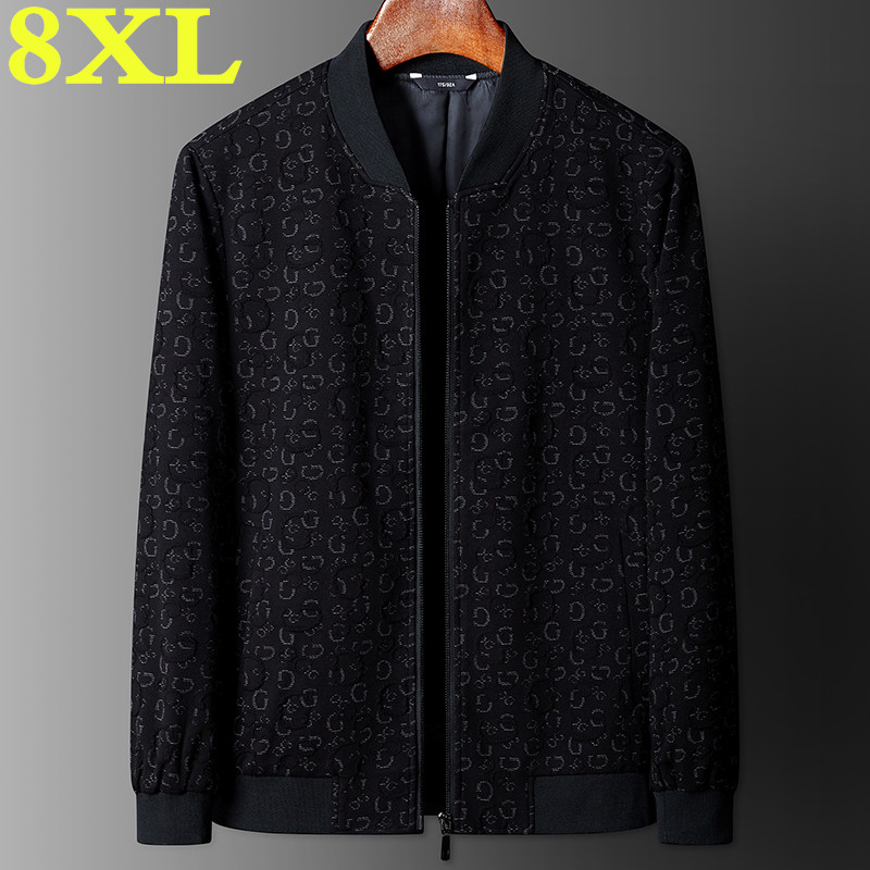 new large size jacke high quality Plus size 8XL 7XL Men Fashion Casual Loose Mens Sportswear Mens Jacket trench coat