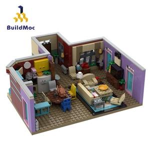 BuildMoc Friends For Girl House Set MOC Girls Figures Apartment Architecture Building Blocks Bricks Friends Houses Toys for Kids