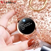 Lemfo LW07 Smart Horloge Vrouwen 2020 Diy Horloge Gezicht Kleurrijke Tft-scherm Gezondheid Monitoring Smartwatch Dames Voor Android Ios