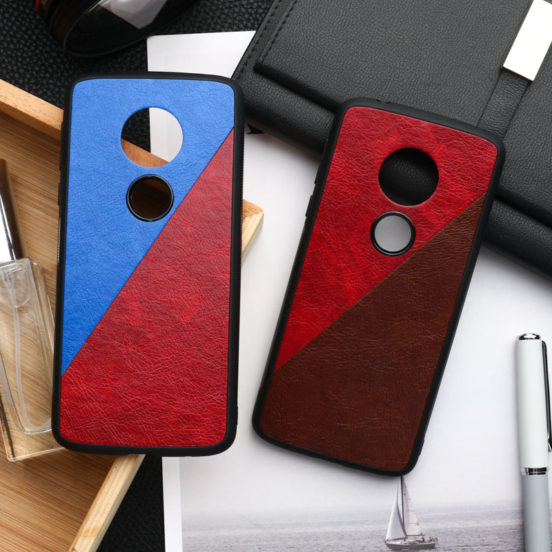 Frabic Phone Case For Motorola Moto G7 Play G7 Power Case Silicone Leather Cover For Moto E6 Plus E5 Shockproof Hard PC PU Shell