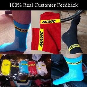 Image 3 - マヴィックブランドサイクリング靴下圧縮スポーツソックス道路の自転車の靴下アウトドアスポーツmtbレースサイクリング自転車靴下