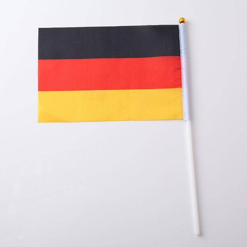 Canadian Flag Brazilian Flag Spanish Flag Italian Flag Print Stripes Fashion 30.5*21*0.5cm Terylene Nylon Nationalflag National - Цвет: Germany