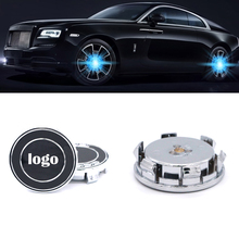 4pcs/set floating wheel hub cap center caps Lights illumination For BMW for Benz Audi Honda