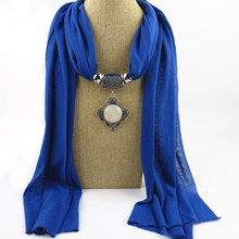 14 kinds Resin pendant Alloy resin round polyester scarf, female and winter shawl scarf