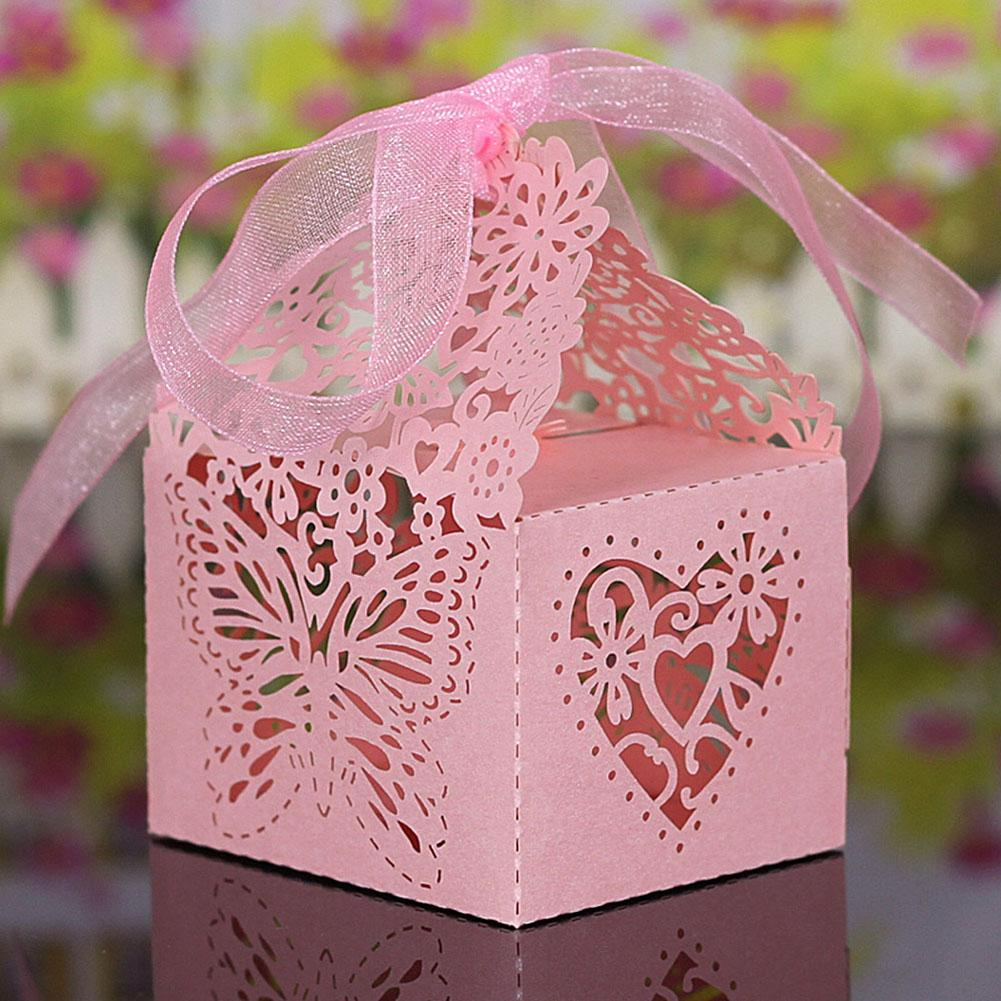 10pcs Cutout Wedding Candy Box European Style Laser Candy Box Chocolate Candy Carton For Wedding Party Decoration