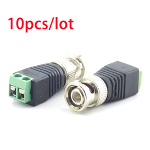 10Pcs Coax CAT5 BNC Male Conne
