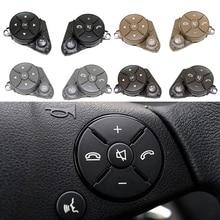 Kit de revêtement dhabillage de bouton de commande de commutateur de volant de voiture pour mercedes benz W204 X204 W212 C E GLK classe 2008 2015 gauche droite