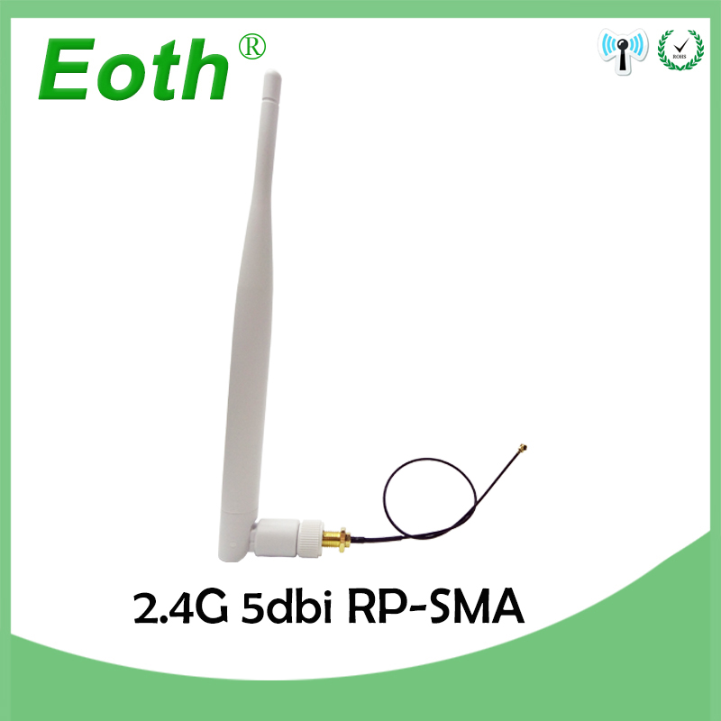 2.4GHz 5dBi Antenna WiFi RP-SMA Male 2.4G Antenne White Aerial Antena Router +21cm PCI U.FL IPX To SMA Male Pigtail Cable