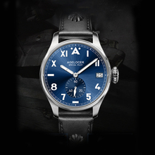 Fashion Men Stainless Steel Pilot Watches Sapphire Crystal 5