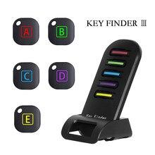 Avançado localizador de chaves sem fio pet tracker remoto chave localizador carteiras de telefone anti-lost 5 receptores e 1 doca dzgogo