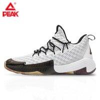Pico lou williams tênis de basquete profissional dos homens amortecimento respirável peak sapatos esportivos ao ar livre ginásio treinamento|Tênis de Basquete|   -