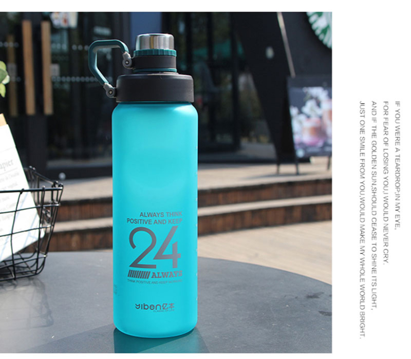 H83164747f4704f6a9bedbbd38f4cc2e1D Kettle 850ML large capacity plastic water dispenser travel student outdoor sports school portable scrub leak cup drinking bottle