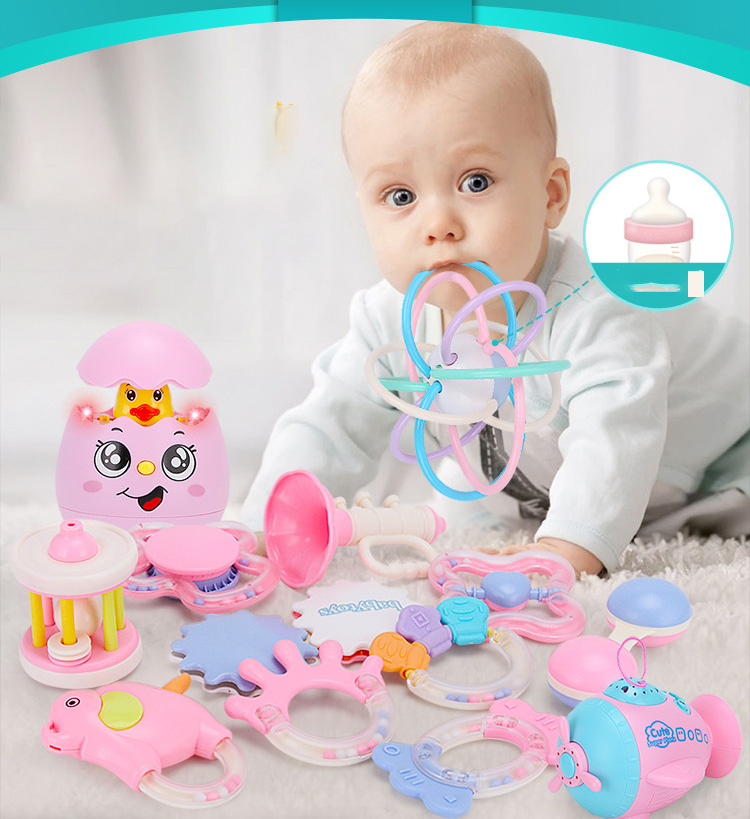 Baby Toys Rattle For Toddlers Stroller Shaking Bell Lovely Hand Shake Bell Ring  Rattles Toys Newborn 0- 12 Months Teething Toys