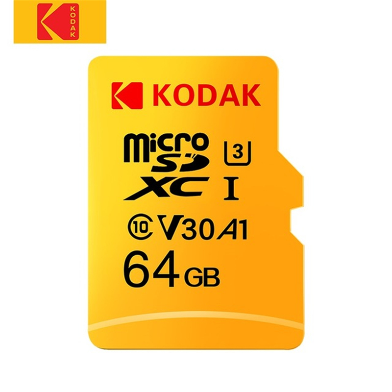 KODAK U3 A1  Micro SD Memory TF Flash Card  High Speed 64GB/128GB Micro SD Memory Card For Video And  Mobile Storage