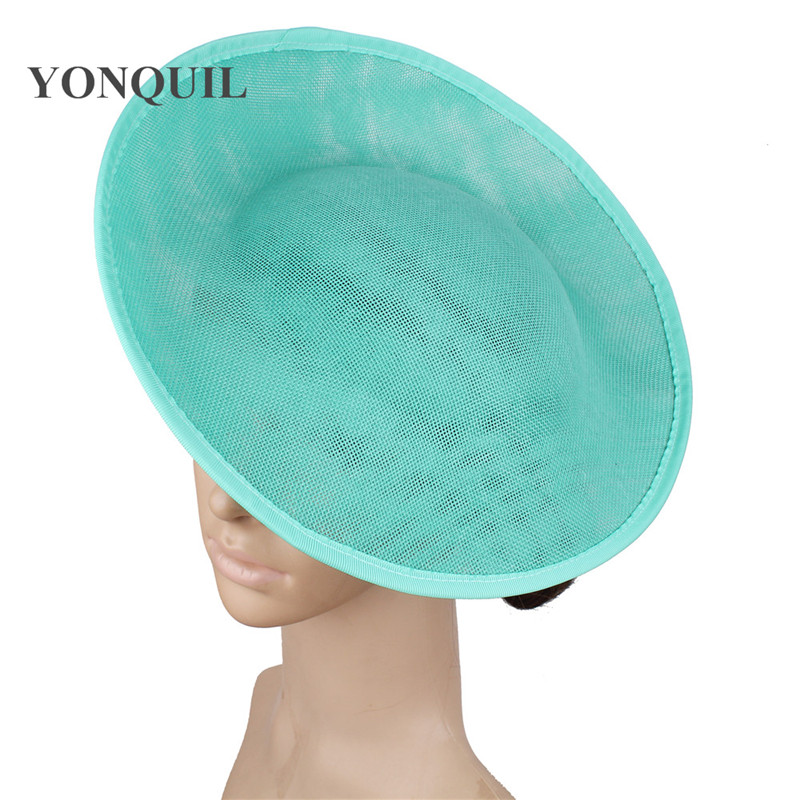 Imitation Sinamay Big 30 CM Round Fascinator Base For Bride Wedding Hat Fascinators DIY Hair Accessories Women Party Chapeau Cap