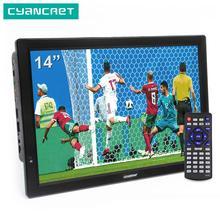 LEADSTAR D14 14 дюймов HD Портативный ТВ DVB-T2 ATSC цифровой аналоговый телевизор мини маленький автомобильный тв Поддержка MP4 AC3 HDMI монитор для PS4