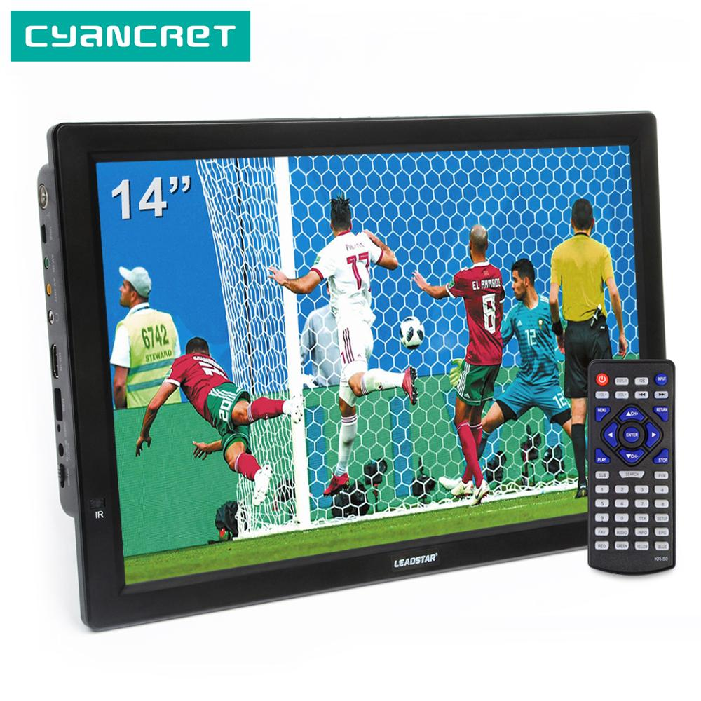 LEADSTAR D14 14 inch HD Portable <font><b>TV</b></font> DVB-T2 ATSC Digital Analog Television Mini Small <font><b>Car</b></font> <font><b>TV</b></font> Support MP4 AC3 HDMI Monitor for PS4 image