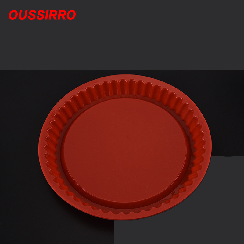 random color 27CM Round Silicone Cake Baking Tray High Temperature Baking Tools Bread Mold Easy Release