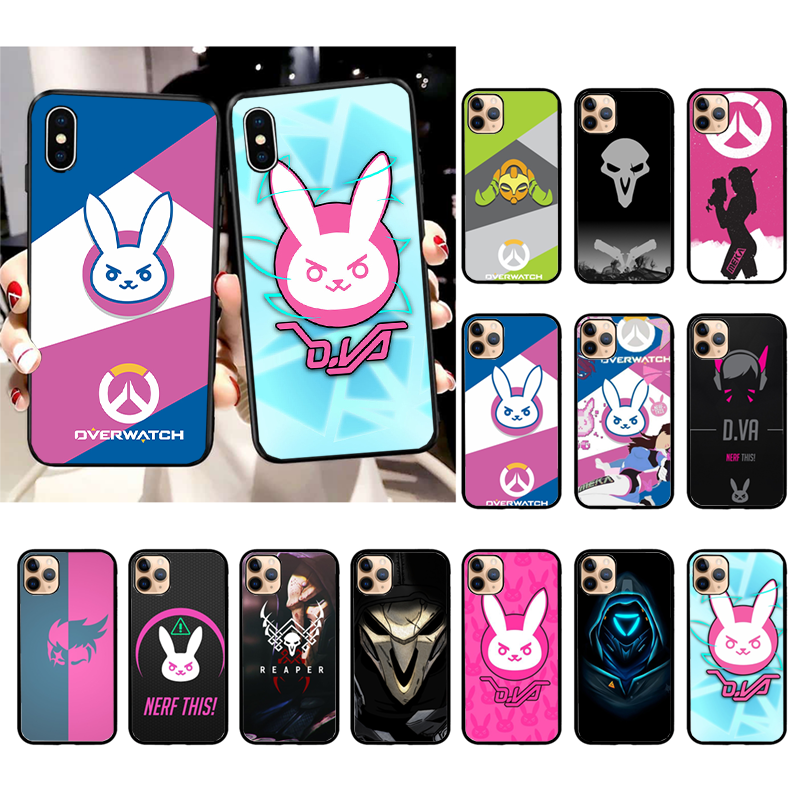 Hot Overwatch ow Game Phone Case for iPhone 11 12 12mini pro XS MAX 8 7 6 6S Plus X 5S SE 2020 XR case