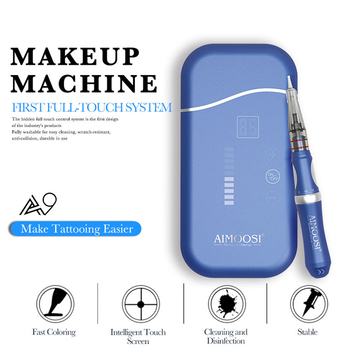 Ultra-silence Professional Rotary Tattoo Machine Pen For Permanent Makeup Eyebrows Lips Microblading DIY Kit With Tattoo Needle