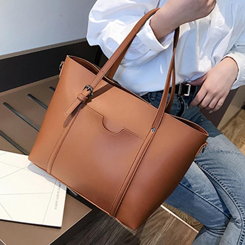 2019 Big Women Handbag Leather Women Shoulder Bags Designer Women Messenger Bags Ladies Casual Tote Bags Sac A Main